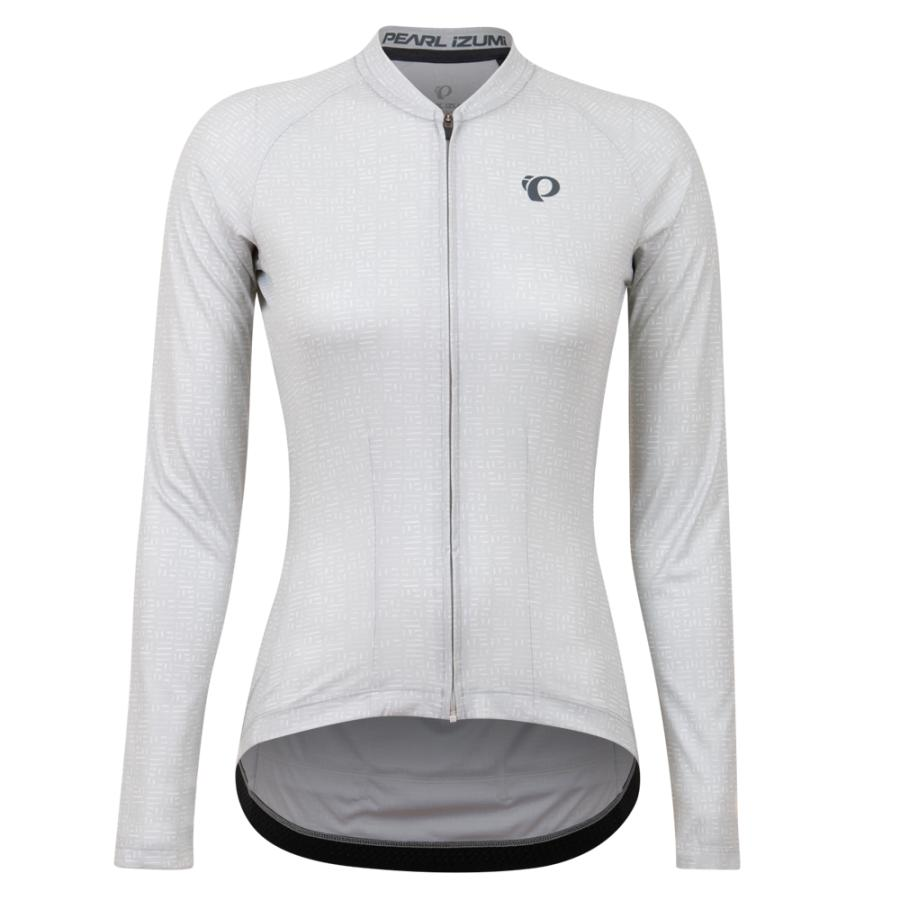 Femme Pearl Izumi Attack Long Sleeve Jersey Cloud Grey Stamp | Maillots