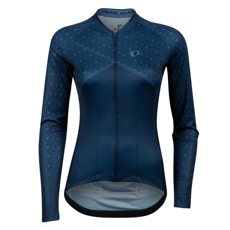Femme Pearl Izumi Attack Long Sleeve Jersey Navy Deco Wrap | Maillots