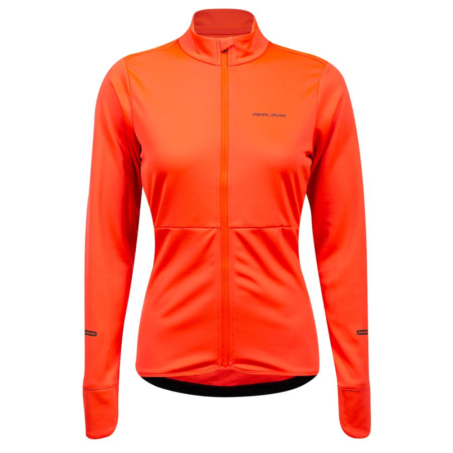 Femme Pearl Izumi Quest Thermal Jersey Screaming Red (Piece Dye) | Maillots