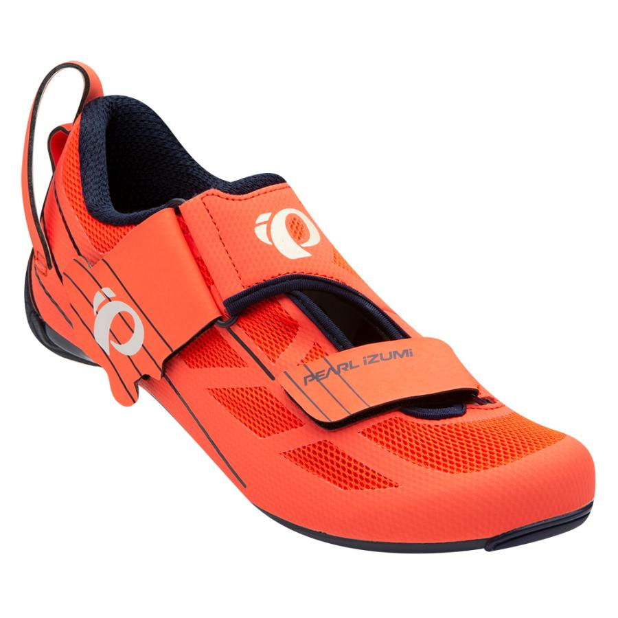 Femme Pearl Izumi Tri Fly SELECT v6 Navy/Fiery Coral | Chaussures