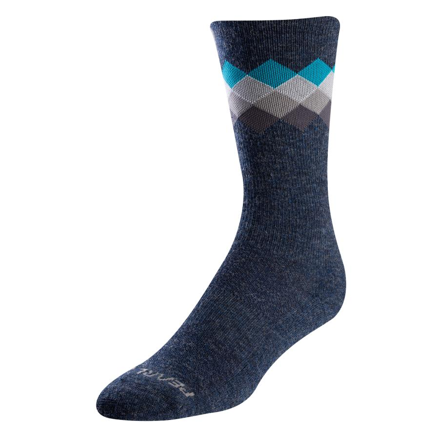 Femme/Homme Pearl Izumi Merino Thermal Sock Navy/Teal Solitaire | Montagne
