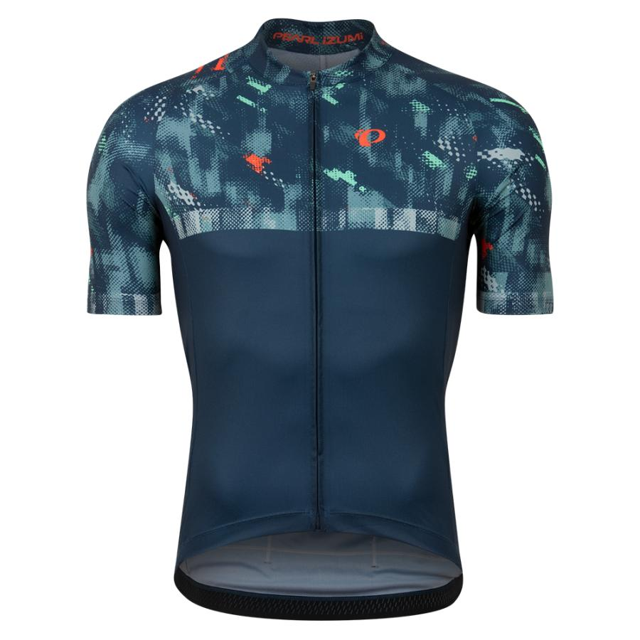Homme Pearl Izumi Attack Jersey Navy Disrupt | Route
