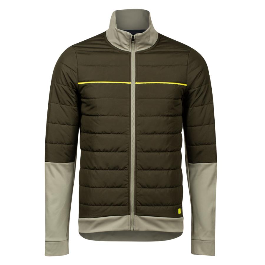Homme Pearl Izumi Elevate Insulated AmFIB Jacket Forest/ Gravel | Manteaux Et Gilets