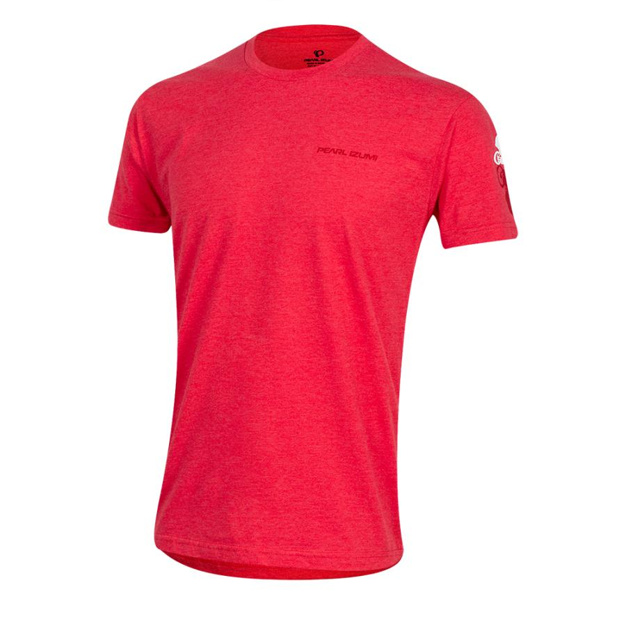 Homme Pearl Izumi Graphic T-Shirt Bike Shadow Red Heather | Montagne