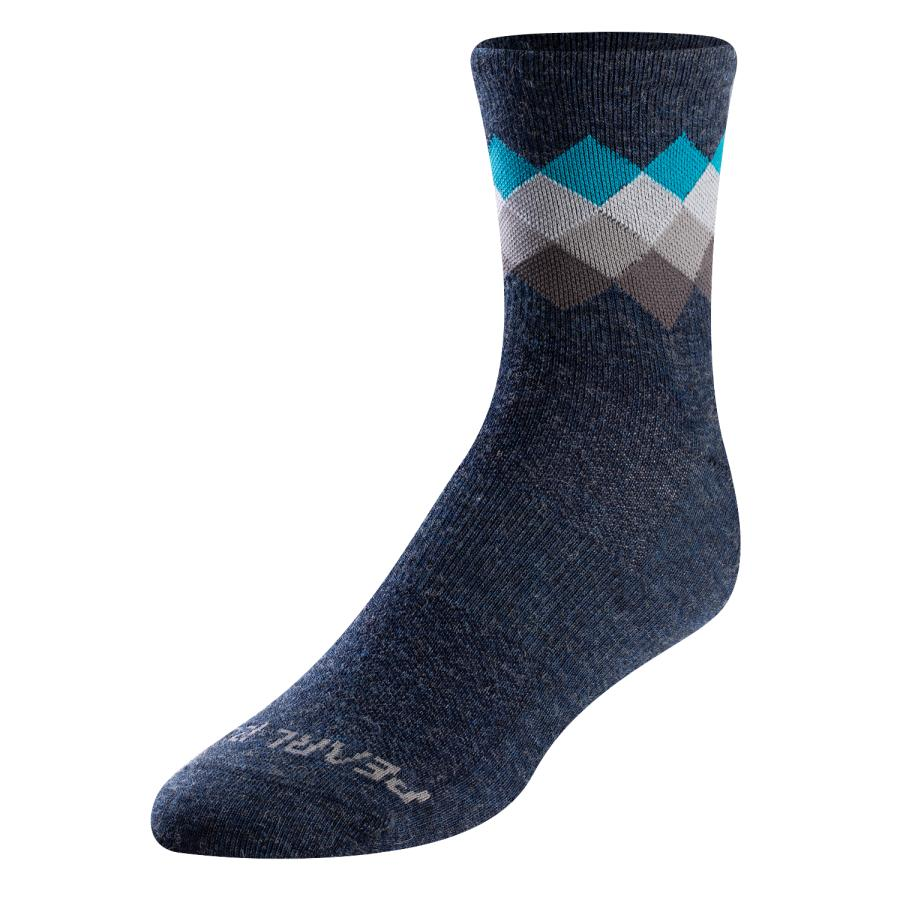 Homme Pearl Izumi Merino Sock Navy/Teal Solitaire | Chaussettes