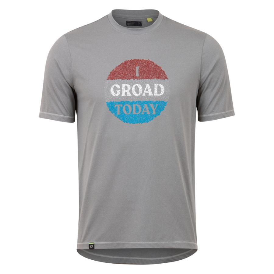 Homme Pearl Izumi Midland Graphic T-Shirt Frostgrey/Red Groad | Tee-Shirts Et Maillots À Manches Courtes