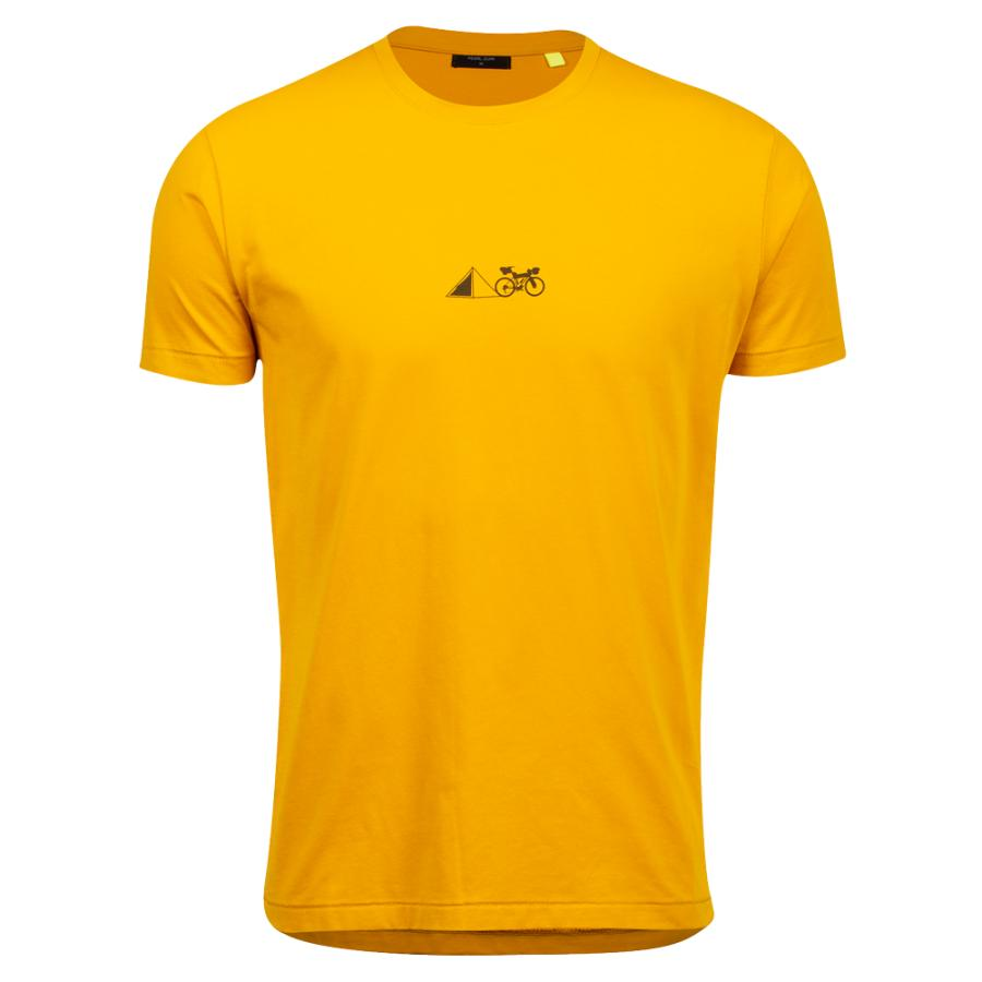 Homme Pearl Izumi PEARL iZUMi Go To Tee Gold Lean It | Tee-Shirts Et Maillots À Manches Courtes
