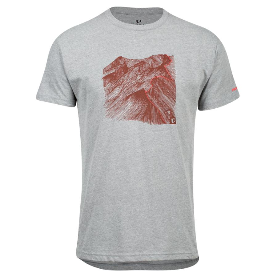 Homme Pearl Izumi PEARL iZUMi Go To Tee Heather Grey Mountain | Tee-Shirts Et Maillots À Manches Courtes