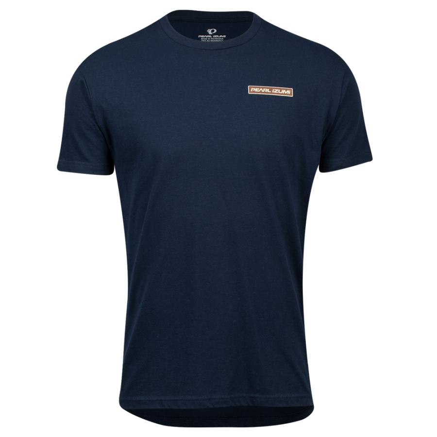 Homme Pearl Izumi PEARL iZUMi Go To Tee Midnight Navy Mtn Sun Badge | Tee-Shirts Et Maillots À Manches Courtes