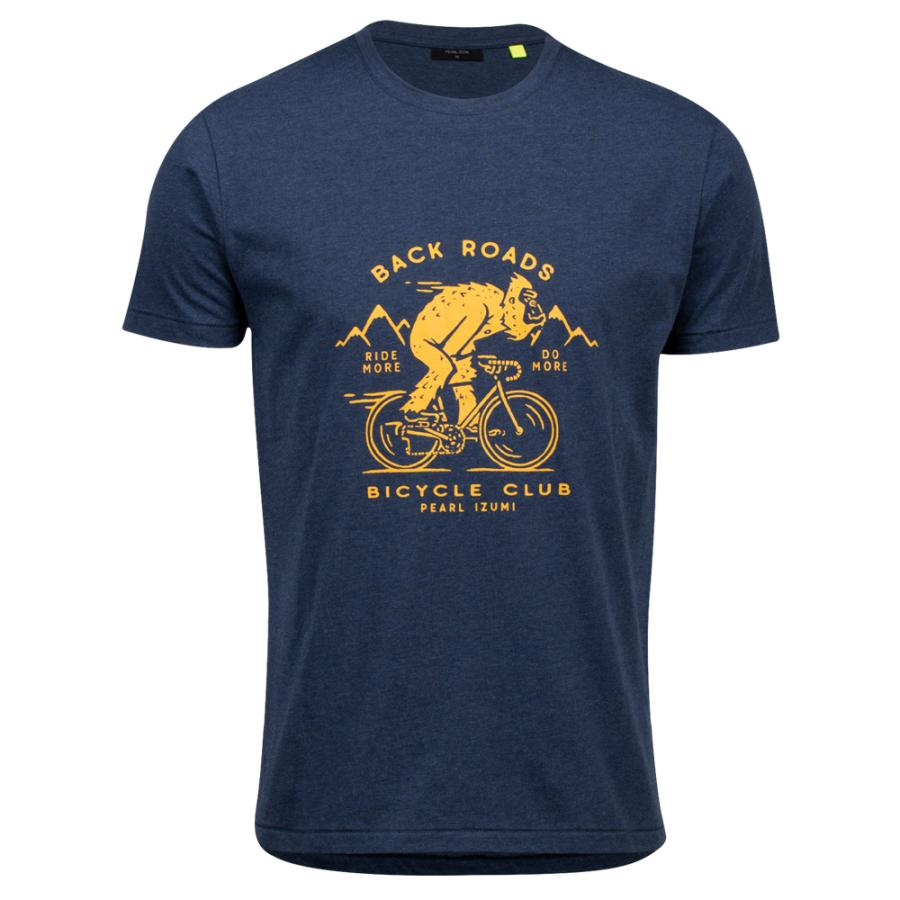 Homme Pearl Izumi PEARL iZUMi Go To Tee Navy Heather Speedy | Tee-Shirts Et Maillots À Manches Courtes