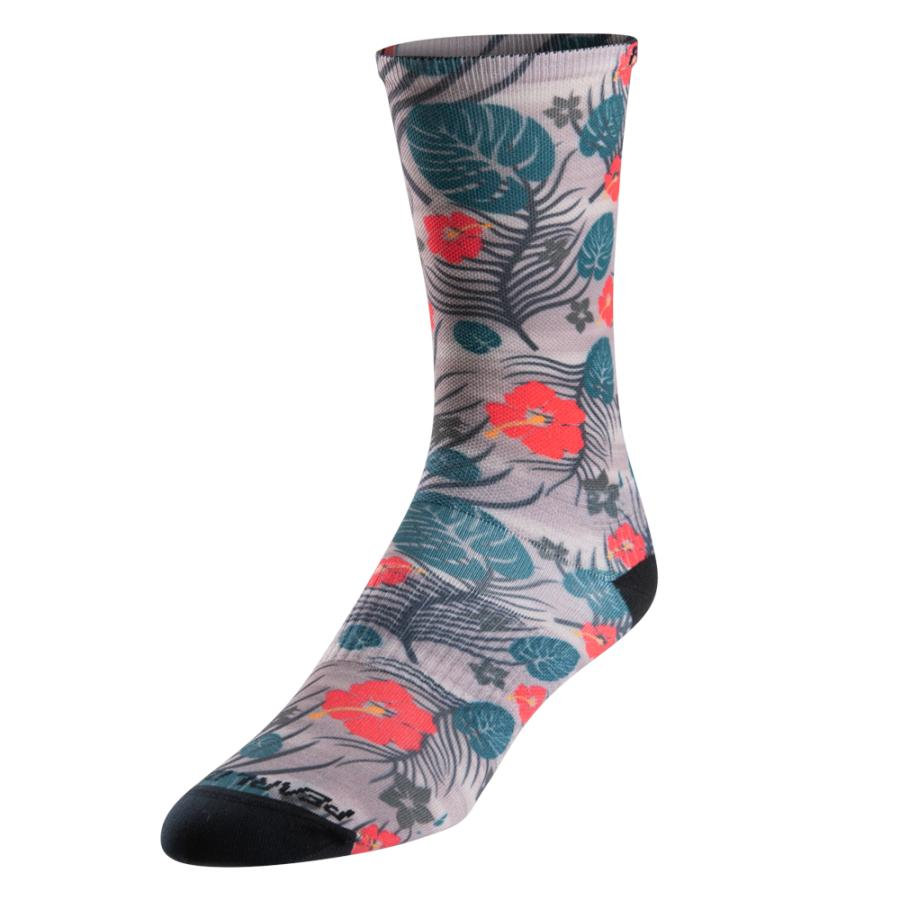 Homme Pearl Izumi PRO Tall Sock Dawn Grey Palm | Route