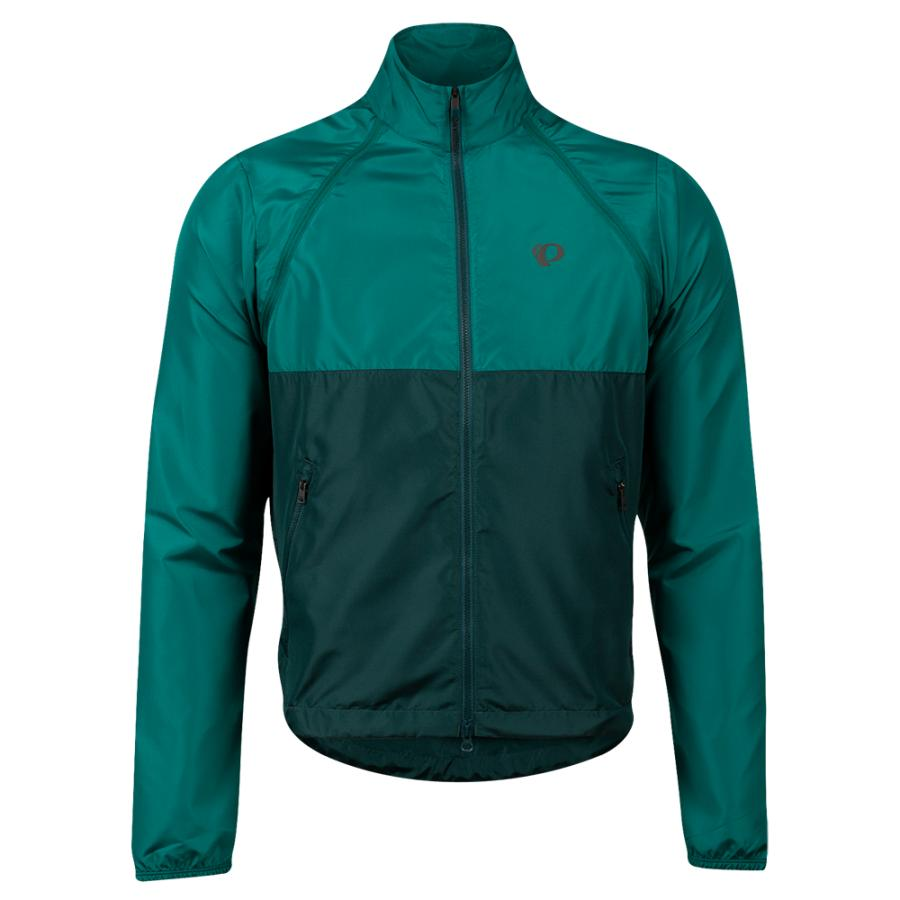 Homme Pearl Izumi Quest Barrier Convertible Jacket Alpine Green/Pine | Route