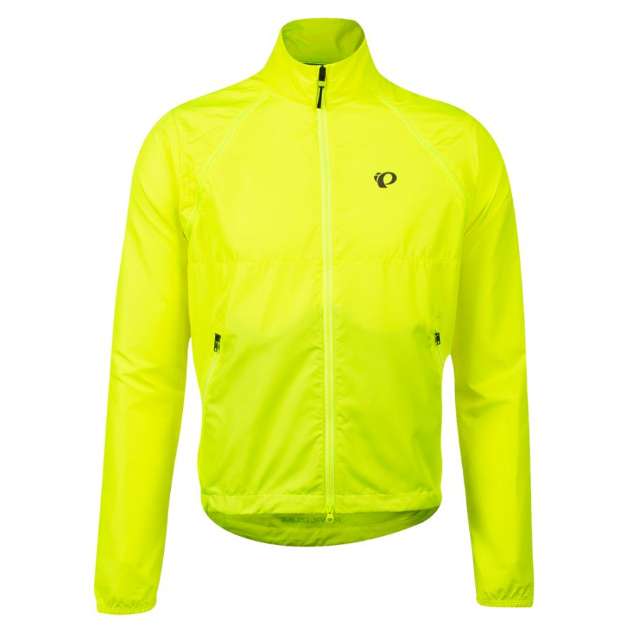 Homme Pearl Izumi Quest Barrier Convertible Jacket Screaming Yellow | Route