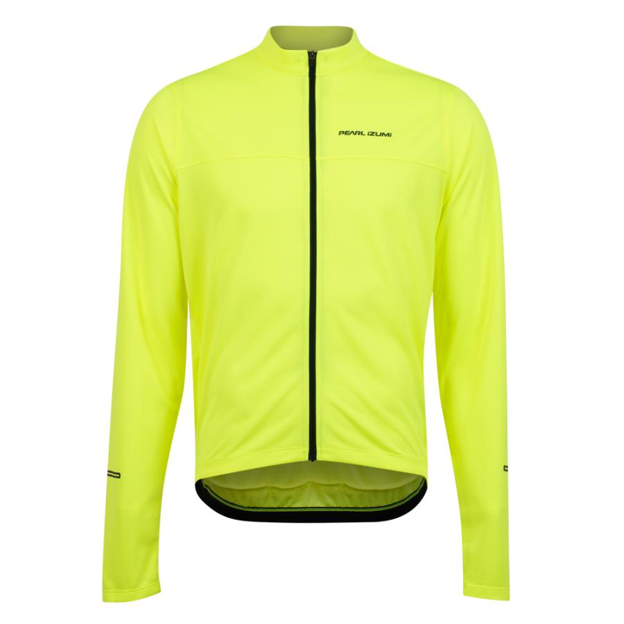 Homme Pearl Izumi QUEST Long Sleeve Jersey Screaming Yellow/Black | Maillots