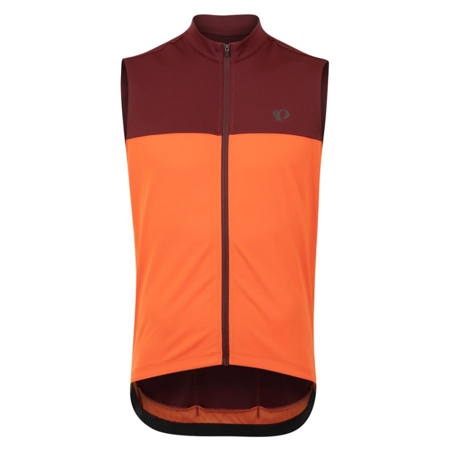 Homme Pearl Izumi QUEST Sleeveless Jersey Sunset Orange/Redwood | Maillots