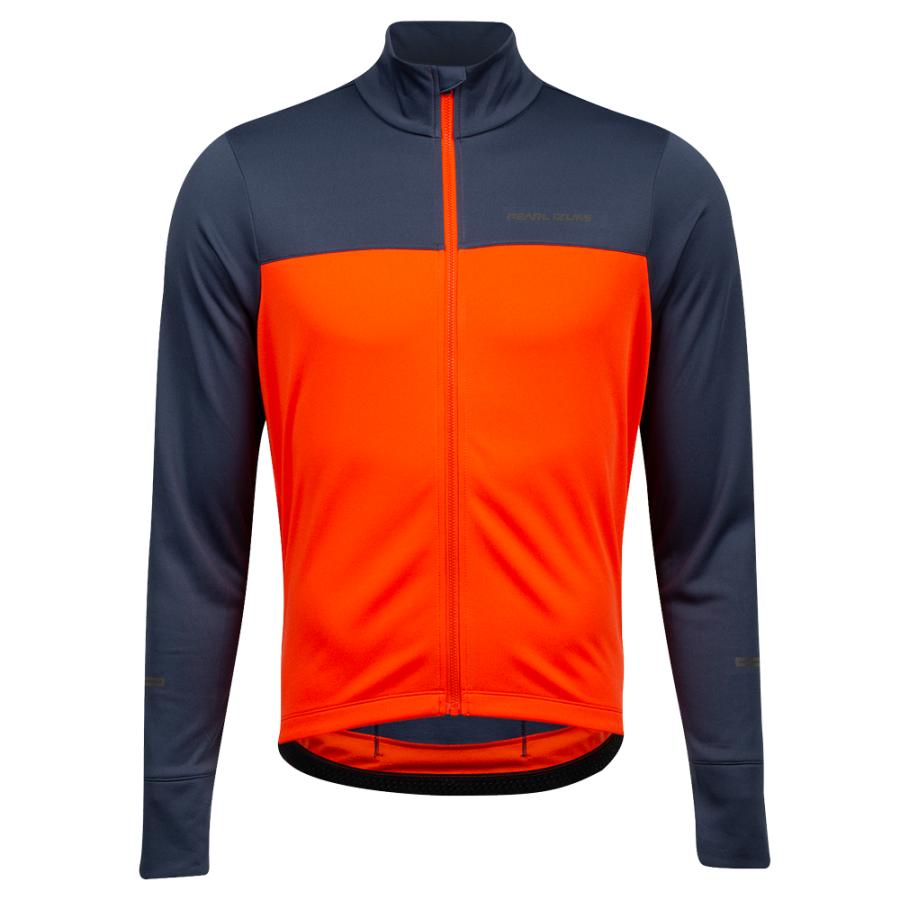 Homme Pearl Izumi Quest Thermal Jersey Solar Flare/ Navy | Route
