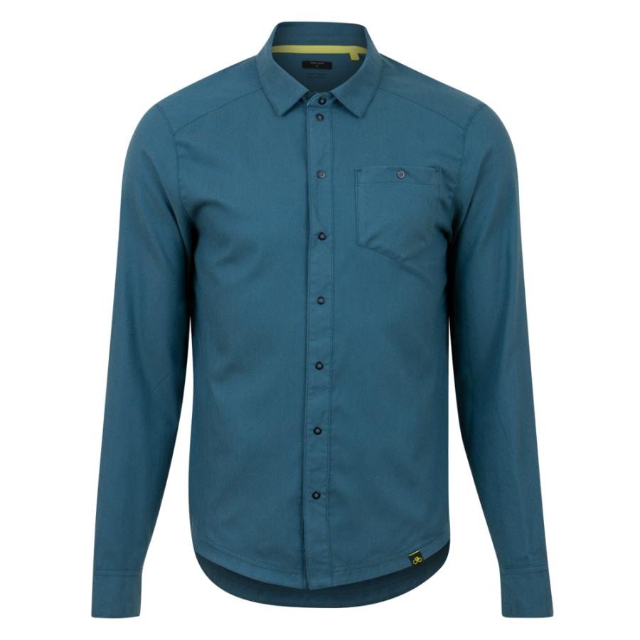 Homme Pearl Izumi Rove Long Sleeve Shirt Twilight/ Spruce Weave | Tee-Shirts Et Maillots À Manches Courtes