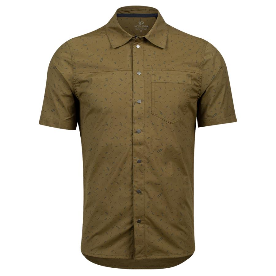 Homme Pearl Izumi Rove Shirt Dark Olive Forks | Tee-Shirts Et Maillots À Manches Courtes