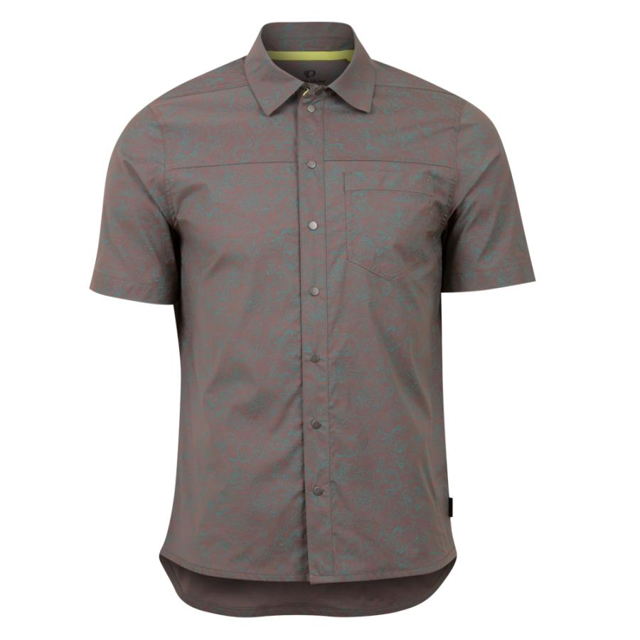 Homme Pearl Izumi Rove Shirt Dusty Plum/Spruce Rollin | Tee-Shirts Et Maillots À Manches Courtes