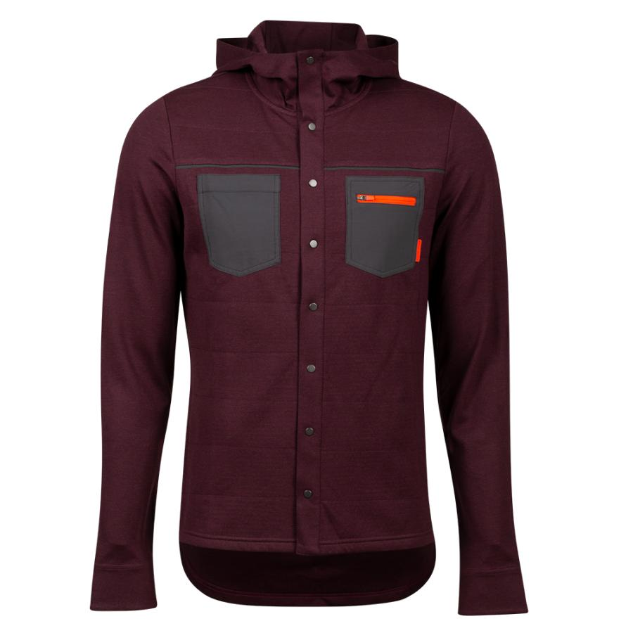 Homme Pearl Izumi Summit Insulated Shirt Garnet Heather | Tee-Shirts Et Maillots À Manches Courtes