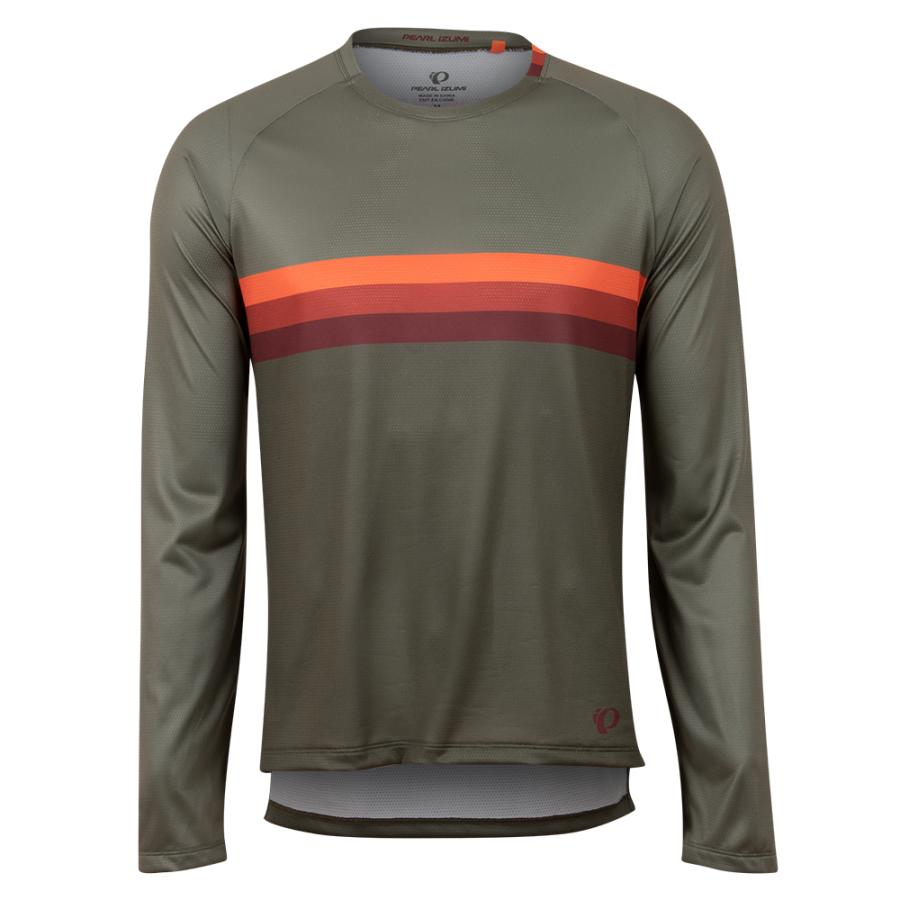Homme Pearl Izumi Summit Long Sleeve Shirt Pale Olive/Sunset Stripe | Maillots