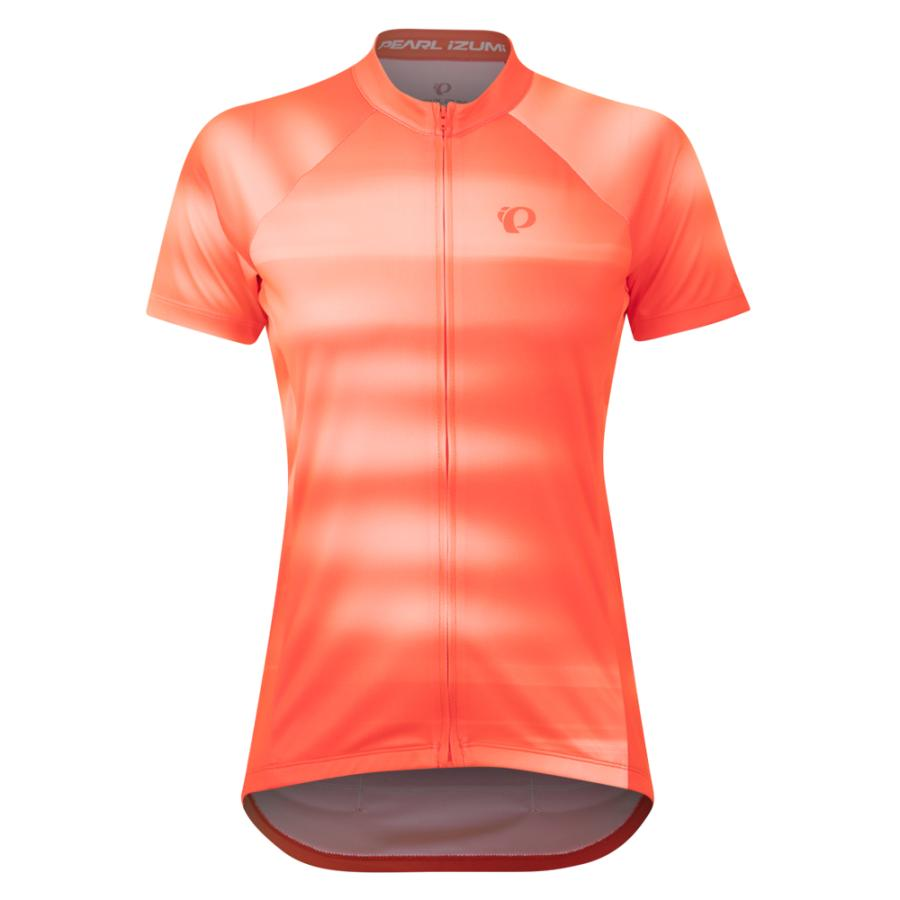 Femme Pearl Izumi Classic Jersey Screaming Red/White Cirrus | Maillots