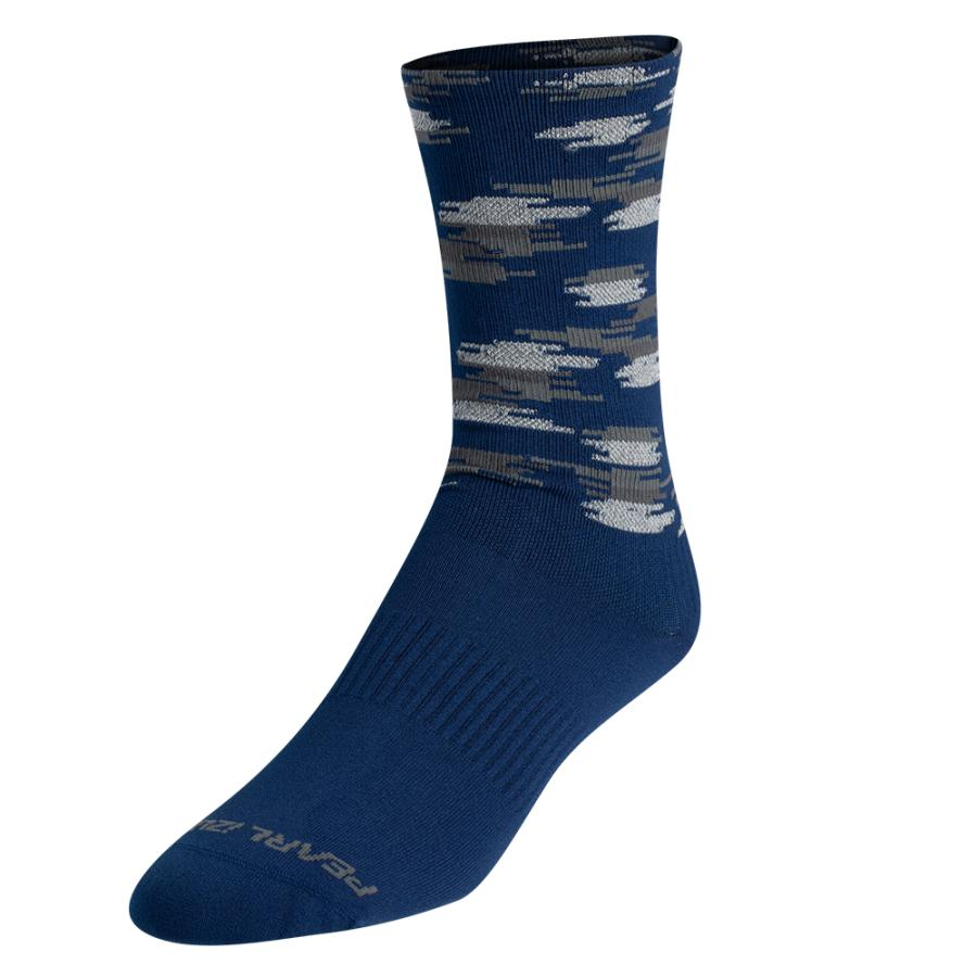 Homme Pearl Izumi Flash Reflective Sock Navy Highland Dash | Route