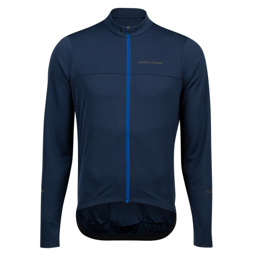 Homme Pearl Izumi QUEST Long Sleeve Jersey Navy/Lapis | Route